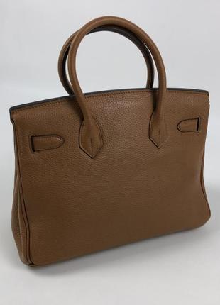 Оригинальная кожаная сумка hermès paris togo birkin клатч портфель ранец4 фото