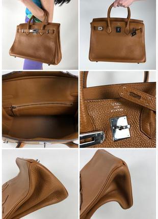 Оригинальная кожаная сумка hermès paris togo birkin клатч портфель ранец10 фото