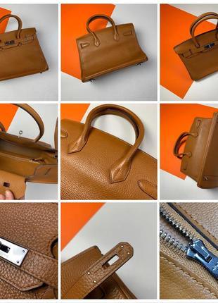 Оригинальная кожаная сумка hermès paris togo birkin клатч портфель ранец9 фото