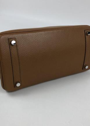 Оригинальная кожаная сумка hermès paris togo birkin клатч портфель ранец8 фото