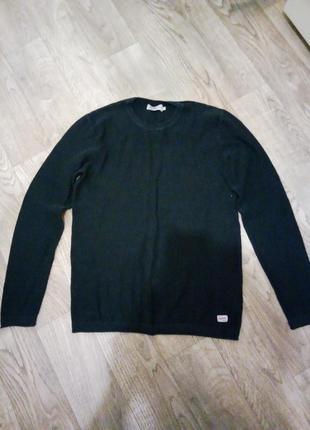 Брендовый темно-синий мужской свитер/ джемпер рр. с м пог 47 jack & jones
