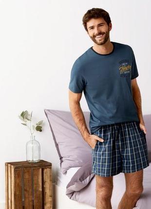 Мужская хлопковая пижама с шортами livergy германия