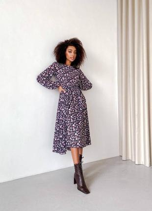 Шифоновое платье миди на подкладке