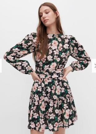 Платье в цветах reserved