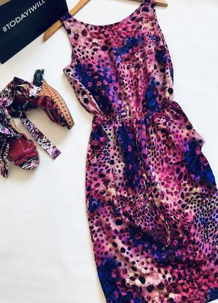 🏩яркое платье миди летнее с карманами и кулиской на поясе
