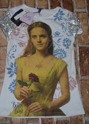 Новая хлопковая футболка девочке ovs 8 - 12 лет