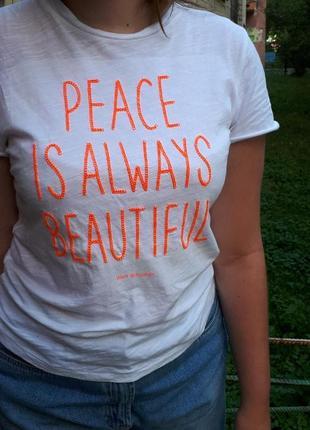 Новая хлопковая футболка девочке 8 - 14 лет h&m