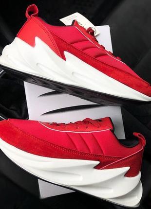 Шикарные женские кроссовки adidas sharks красные