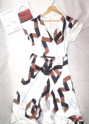 Платье в пол большого размера, пляжное с декольте на запах