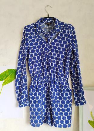 Женский летний хлопковый  комбинезон с шортами