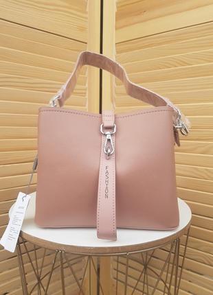 Крутая пудровая женская сумка кроссбоди