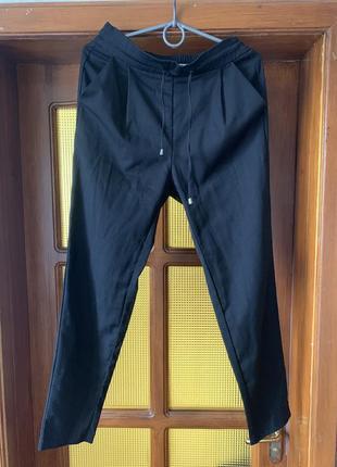 Классические брюки/штаны/чёрные/на резинке/с карманами