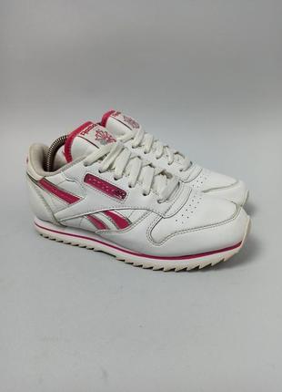 Кожаные кроссовки reebok classic размер 34,5 (23 см.)