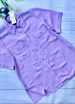 Красивая сиреневая рубашка,блузка prima