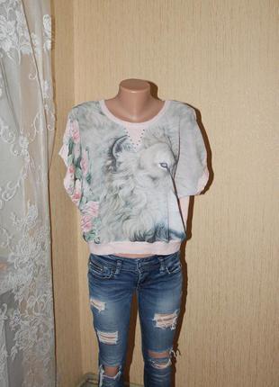 Легкая трикотажная блуза