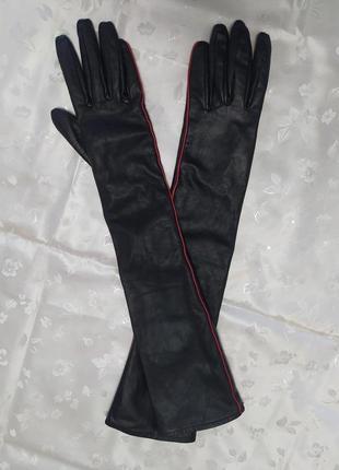 Кожаные высокие перчатки итальянского бренда stefanel