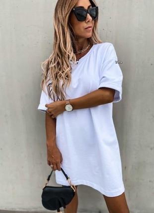 Платье футболка с м л хл, 3 цвета