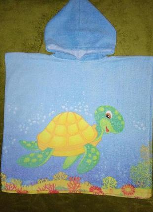 Яркое детское полотенце-пончо crivit
