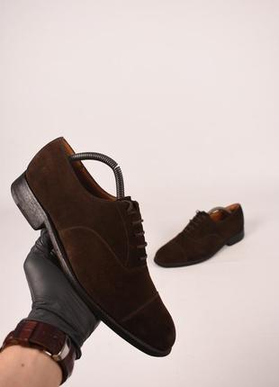 J.m.weston оригинал! мужские французкие туфли классические кожаные коричневые размер 41