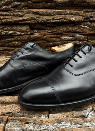 Оксфорды charles tyrwhitt 42 42.5 размер туфли англия кожа