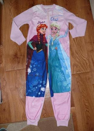 Пижама-слип флисовая на 6-7 лет холодное сердце