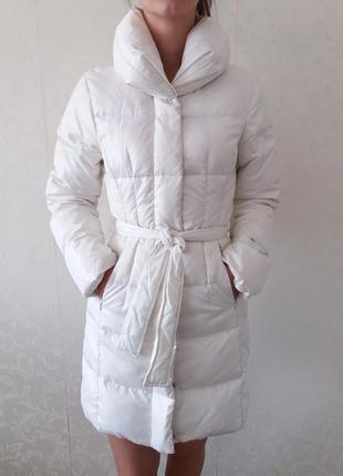 Пуховик, женский пуховик, зимнее пальто, женчкая куртка,белый пуховик