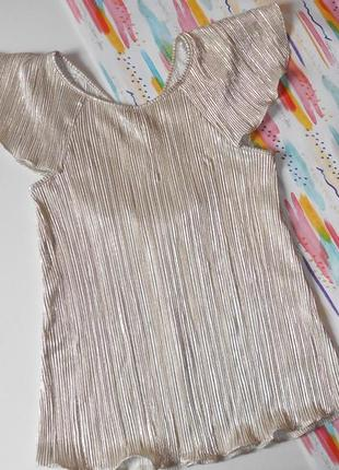 Нарядная блузка-плисе на девочку 10 лет