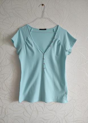 Нежно-голубая футболка от vero moda