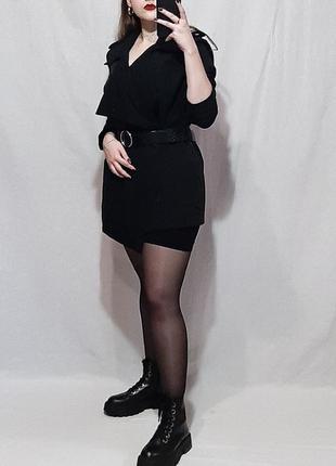 New look черный укороченный тренч-накидка