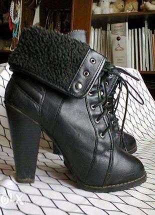 Зимние ботильйоны зимние ботинки зима полусапоги зимние сапоги