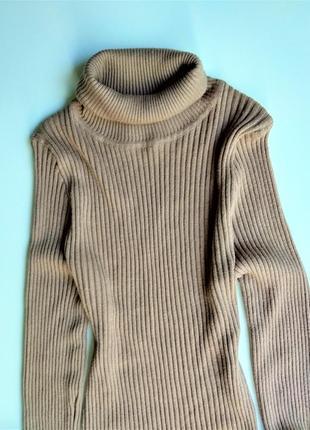 Бежевое платье в рубчик от primark3 фото