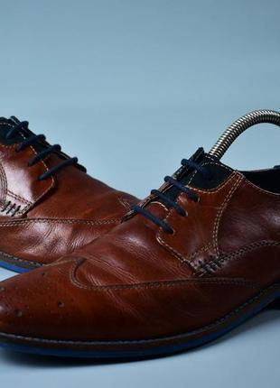 Am оригинал! мужские кожаные туфли оксфорды дерби коричневые размер 40