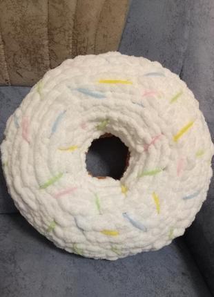 Интерьерная подушка пончик