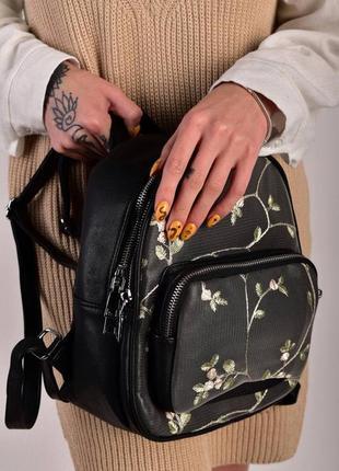 Стильный рюкзак - сумка эко кожа 263959 black