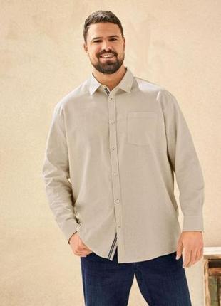 Рубашка льняная мужская большого размера 64-66 livergy германия