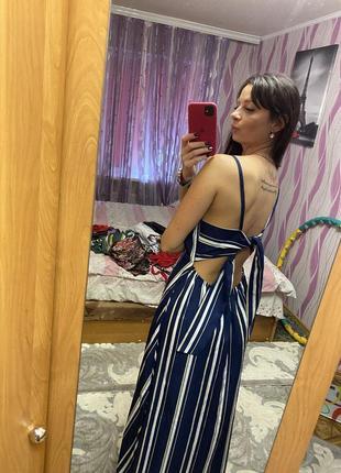 Платье в пол макси открытая спинка