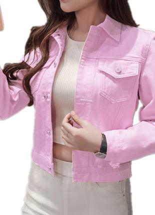 """Фирменная куртка, пиджак, жакет джинсовый / розовый """"miss fiori"""" (на девочку 6-9 лет)."""