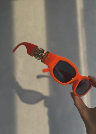 Шикарные модные яркие очки оранжевые