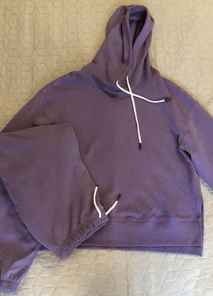 Женский спортивный фиолетовый костюм на флисе l