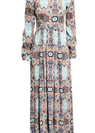 Платье из вискозы макси в пол