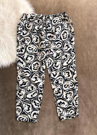 Женские шикарные укороченные льняные штаны брюки max mara