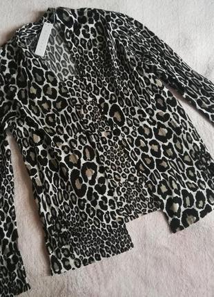 Джемпер имитация двойки актуальный леопард лимитированная серия