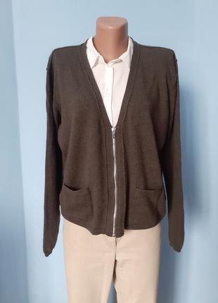 Кардиган шерстяной,свитер шерстяной,кардиган хаки