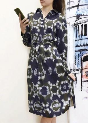 Шелковое платье миди от autograph