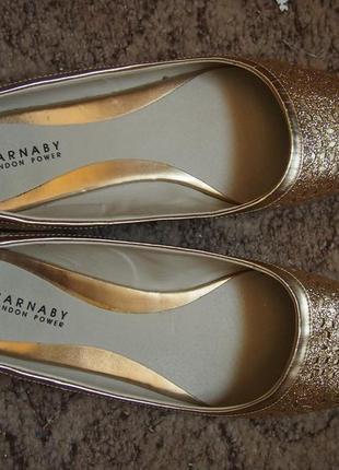 Балетки золотые carnaby 40 25,5 см