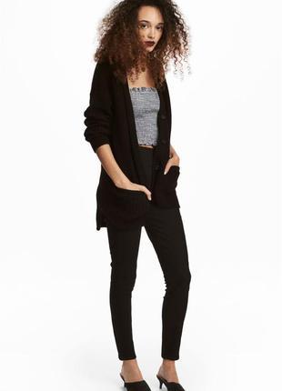 H&m брюки скинни из эластичного твила узкие с завышенной талией р.44-46 укр