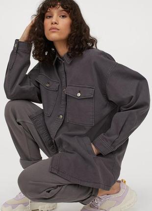 Куртка - рубашка оверсайз