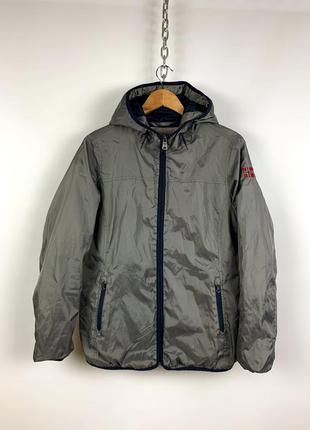 Оригинальный шерстяной пуховик куртка хаки цвет napapijri
