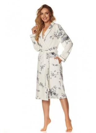 Жіночий велюровий халат l&l