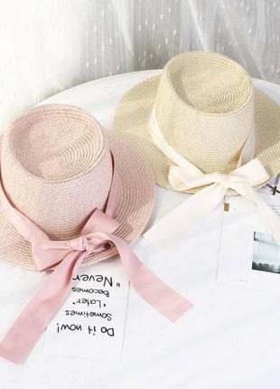 Летняя шляпа канотье